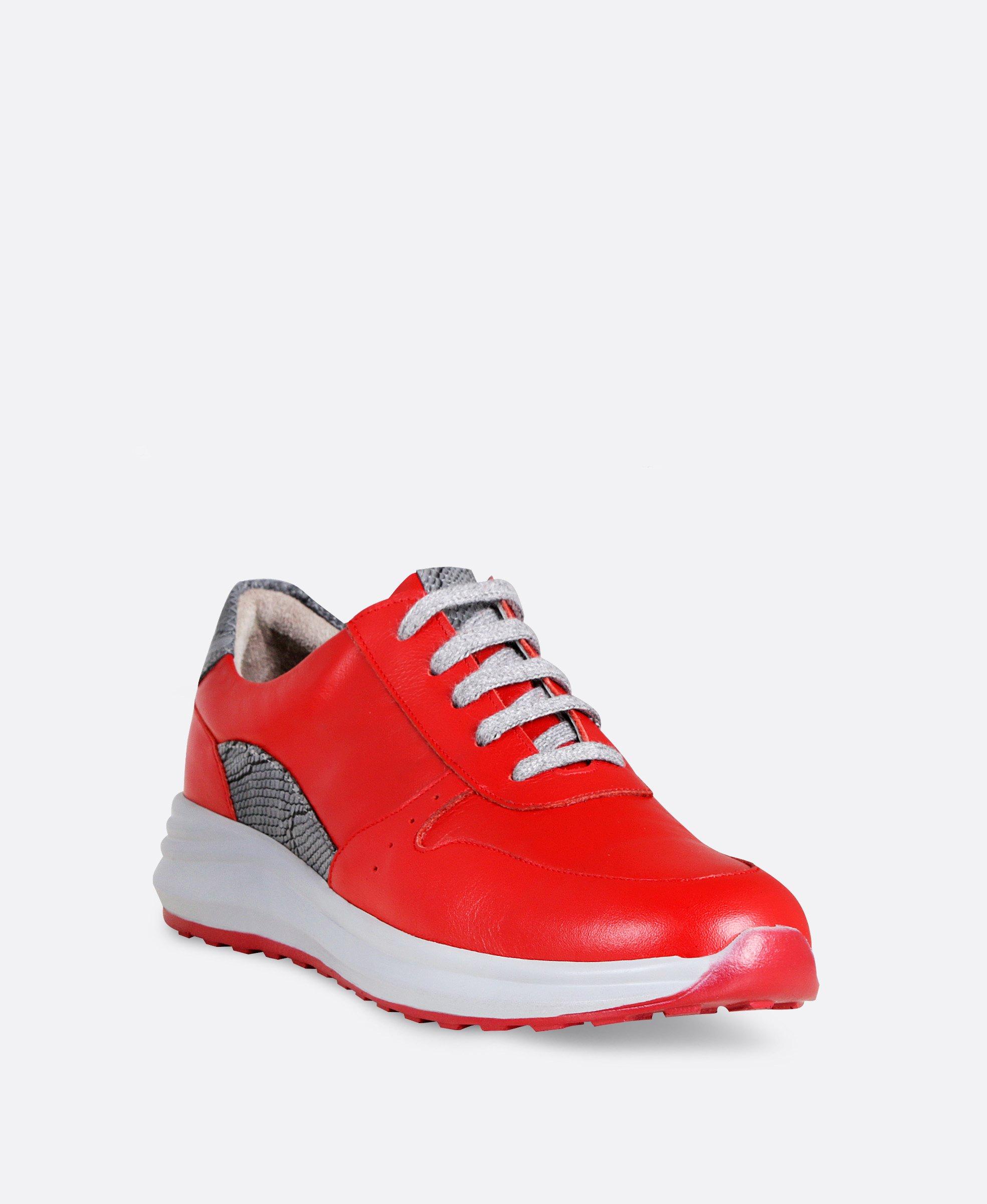 کفش کتانی زنانه چرم 0884