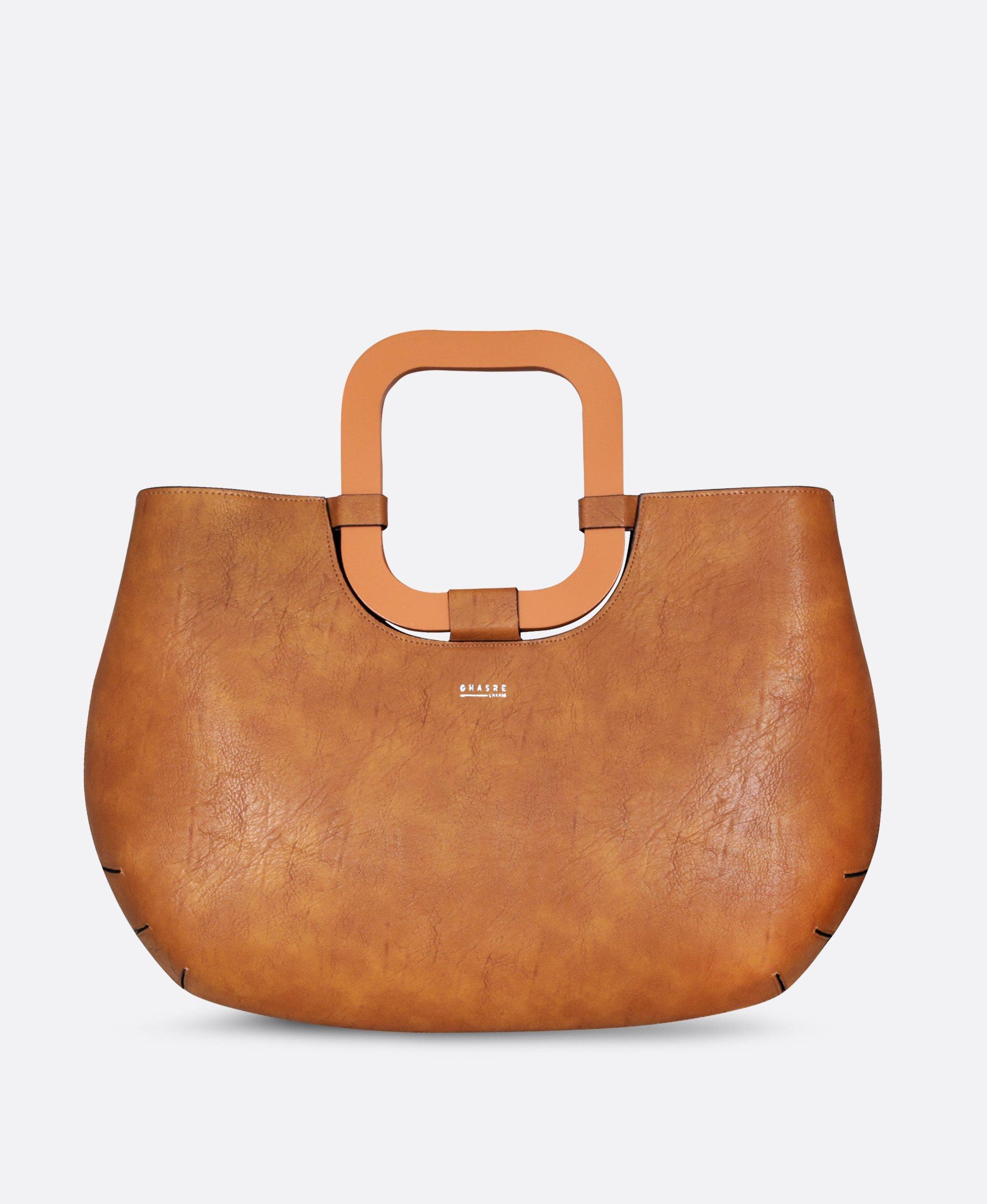 کیف زنانه دسته چوبی 2365